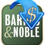 The Barnes & Noble logo with a down arrow and dollar sign superimposed on it