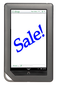 Photo of a Nook with the word Sale! superimposed on it